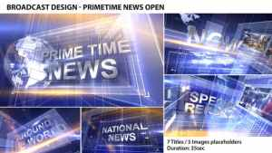 Broadcast Design - Primetime News Open