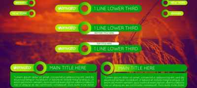 Colorful Lower Thirds Pack