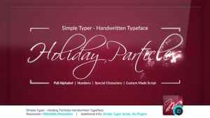 Simple Typer - Holiday Particles Handwritten Typeface