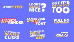 Kinetic Typography & Trantisions Pack