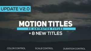 Motion Titles v2.0