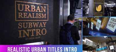 Urban Video Titles | Advertising Intro