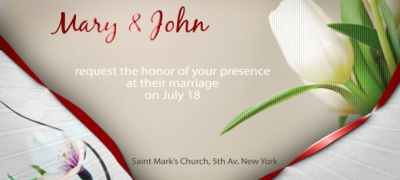 Wedding Invitation e-card