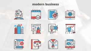 MODERN BUSINESS – Thin Line Icons