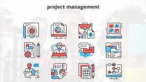 Project Managment – Thin Line Icons