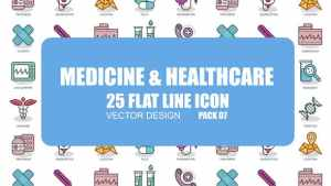 Medicine And Healthcare - Flat Animation Icons