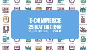 E-Commerce - Flat Animation Icons