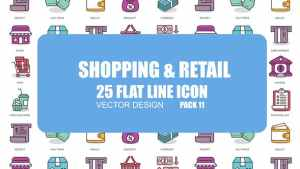 Shoping And Retail - Flat Animation Icons