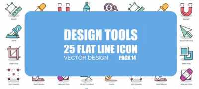 Design Tools - Flat Animation Icons