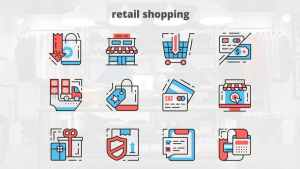 Retail Shoping – Thin Line Icons
