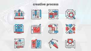 Creative Process – Thin Line Icons