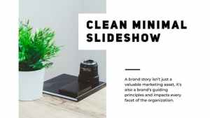 Minimal Clean Presentation