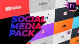 Flat Social Media Pack For Premiere Pro   Mogrt