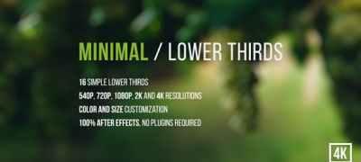 Minimal / Lower Thirds