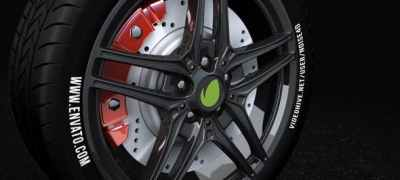 Car Wheel - Automotive Logo