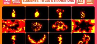 Fire Elements Titles And Transitions