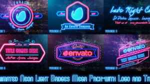 Neon Lights Badges