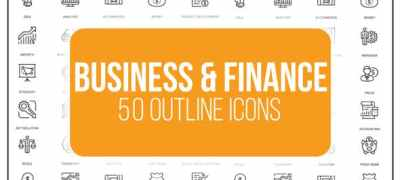 Business And Finance - 50 Thin Line Icons