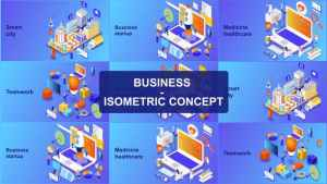 Business - Isometric Concept
