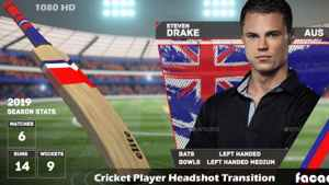 Cricket Player Headshot Transition