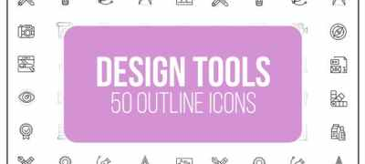 Design Tools - 50 Thin Line Icons