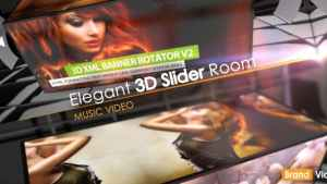 Elegant 3D Slider Room