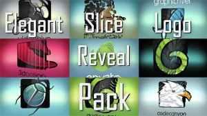 Elegant Slice Logo Reveal Pack