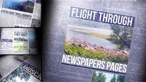 Flight Through Newspapers Pages