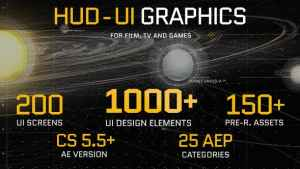 HUD - UI Graphics for FILM, TV and GAMES