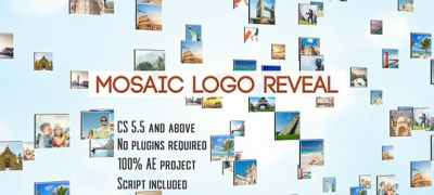 Mosaic Logo Reveal   After Effects Template