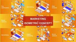 Marketing - Isometric Concept