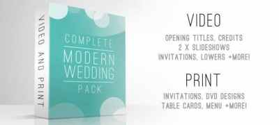 Complete Modern Wedding Pack