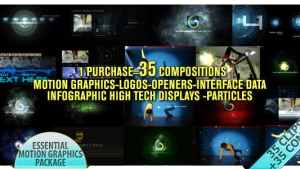 Motion Graphics Displays And Particles Bundle Pack