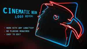 Cinematic Neon Logo