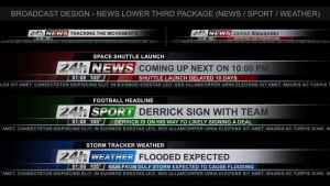 Broadcast Design - News Lower Third Package