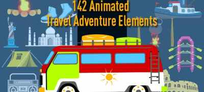 Animated Travel Adventure Elements