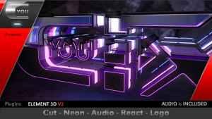 Cut Neon Audio React Logo