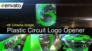 Plastic Circuit Logo Opener / Element 3D