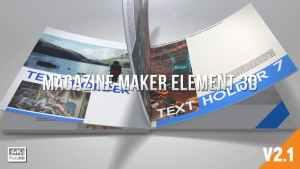 Magazine Maker Element 3D