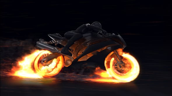 Download Motorcycle Fire Reveal – FREE Videohive