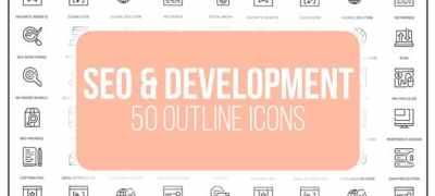 Seo Optimization - 50 Thin Line Icons