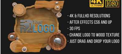 Wooden Logo (AfterFX)