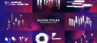 Glitch Titles Sequence Mogrt