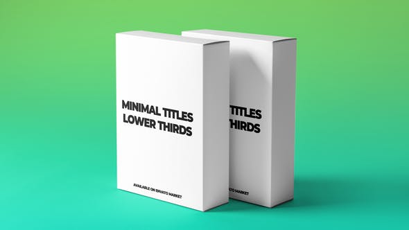 Download Minimal Titles and Lower Thirds – FREE Videohive