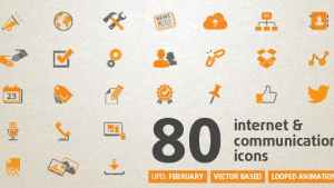 80 Animated Internet Icons