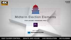 Midterm Election Elements - House & Senate | MOGRT for Premiere Pro