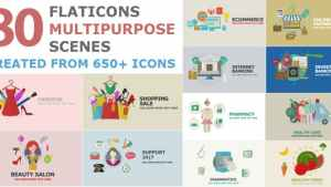 Flat Icons Multipurpose Scenes