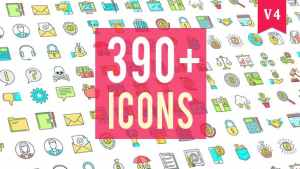 Icons Pack 390 Animated Icons