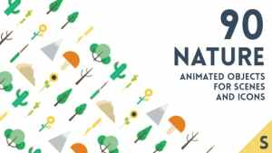 90 Animated Nature Elements