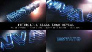 Futuristic Glass Logo Reveal